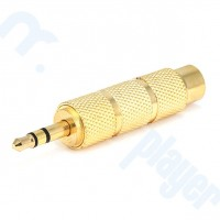 Adaptador 6.3 mm a 3.5 mm Jack Adaptor Gold Plated