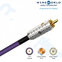 Cable Coaxial Ultraviolet 75-ohm Digital Audio 0.5M