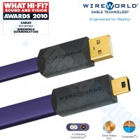Cable USB 2.0  Ultraviolet 7 USB a Mini B 1.0M